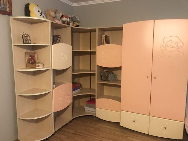 Детская мебель Дитячі меблі шкаф дитячий полички