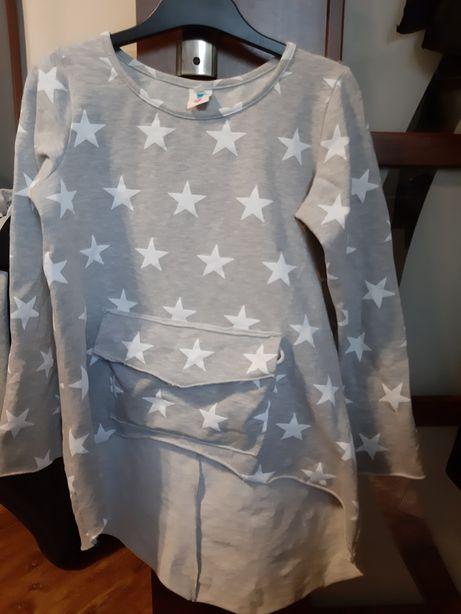 Tunika bluza w gwiazdki r.140
