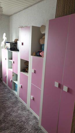 Cały pokój dla dziewczynki- komplet:meble,łóżko,biurko,krzesło
