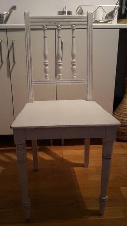 Drewniane krzesła w stylu prowansalskim 2 szt