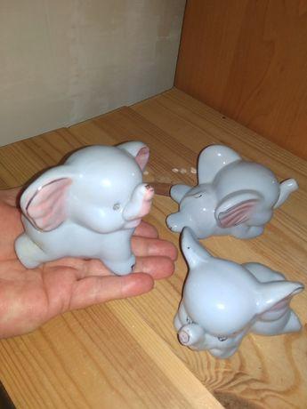 Слоники керамика набор 3 шт.