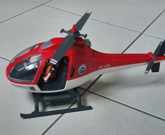 Playmobil helikopter samolot