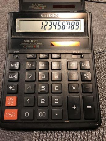 Kalkulator Citizen x 2 i Casio, duze wyswietlacze i klawisze, solarne