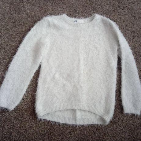 Sweterek włochacz H&M 122-128 cm