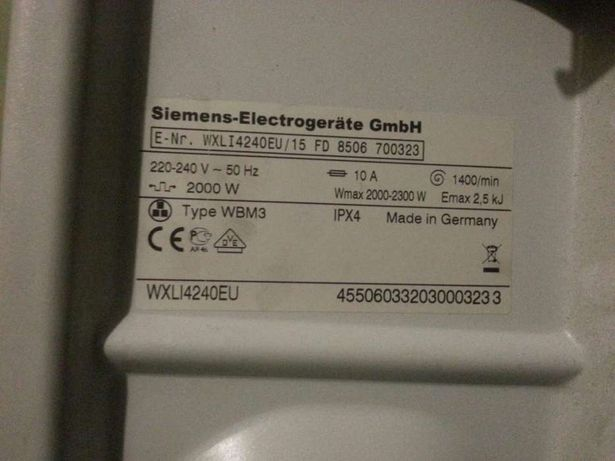 Стиральная машина Siemens WXLI4240EU/15