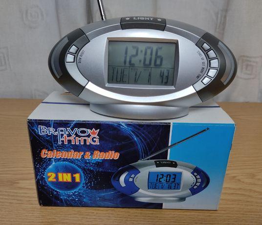 Rádio + relógio portátil