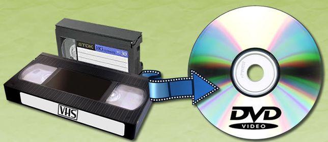 VHS para DVD ou ficheiro de vídeo