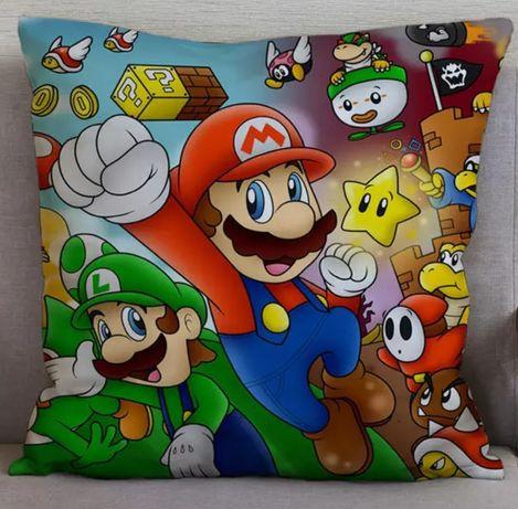Fronha de almofada Super Mário Nintendo Luigi 450x450MM Novo