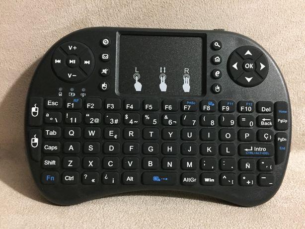 Mini teclado com rato touch wireless com bateria - TV Box Android/etc