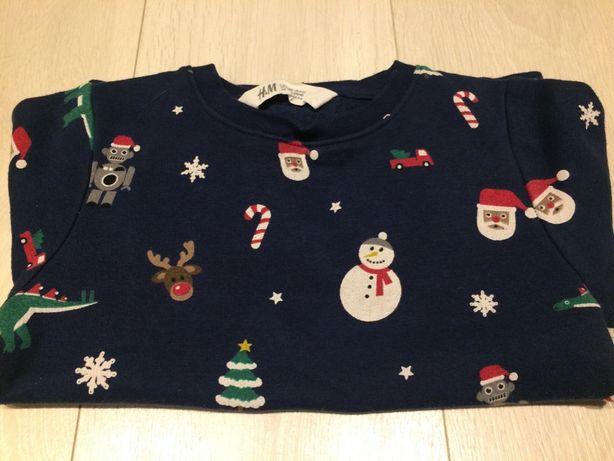 Świąteczna bluza H&M rozm 110-116