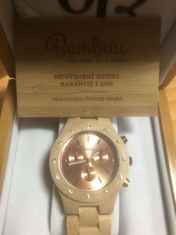 Relógio em BAMBUU cronografo para senhora novo