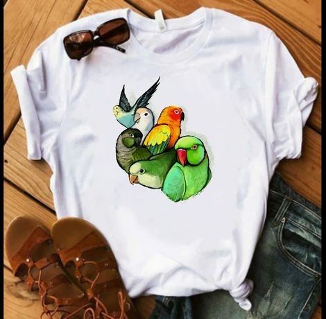 Koszulka t-shirt papuga papugi kakadu Aleksa S-XXL