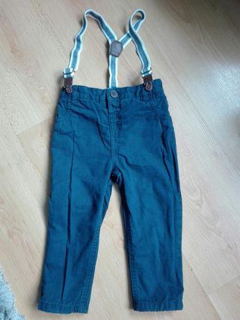Spodnie z szelkami f&f roz.86