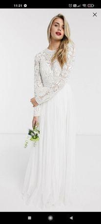 Piękna suknia ślubna ASOS, rozm. 36