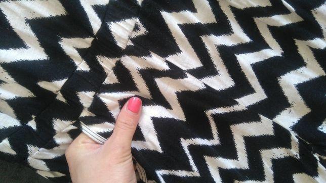 Kombinezon H&M czarny biały spodnie na ramiączka 158 XS 34