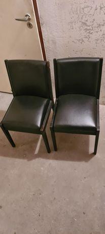 Krzesła skóra bardzo stare w bardzo dobrym stanie