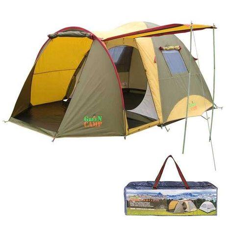 Доставка )Палатка  двухслойная  четырехместная Green Camp 1036...