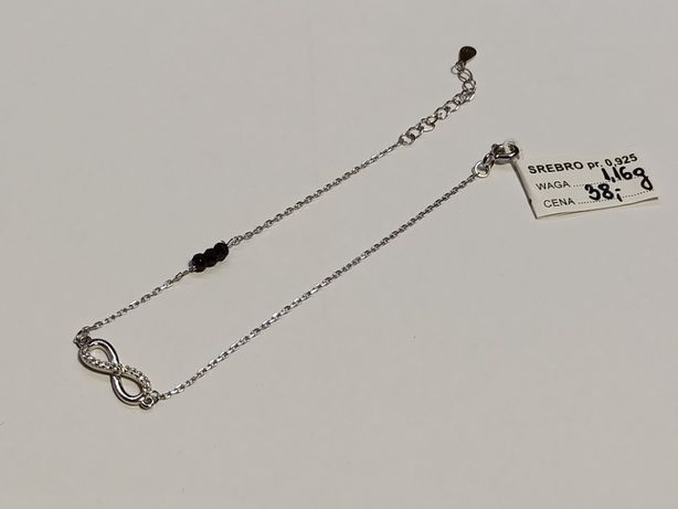 Bransoletka srebrna, nowe srebro, pr.925 Lombard Krosno Lewakowskiego