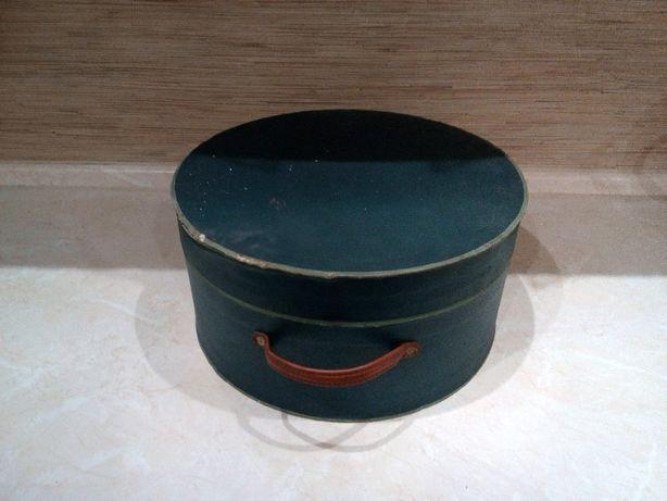 OKAZJA Pudełko na kapelusz z uchwytem ze skóry twarde duże Wysyłam