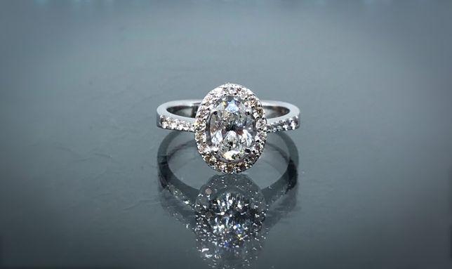 Кольцо с бриллиантом больше 1ct