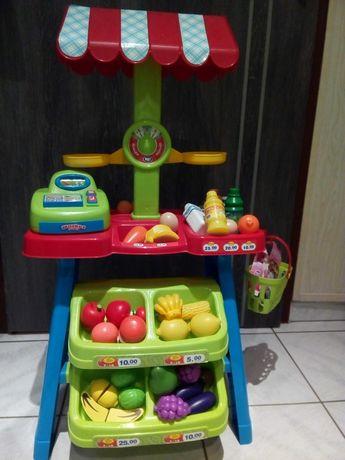 zestaw dla dzieci sklepik warzywniak kasa warzywa owoce