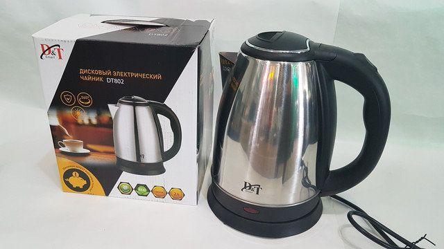 Новый электрочайник Domotec DT-802 / 2.0л чайник электрический
