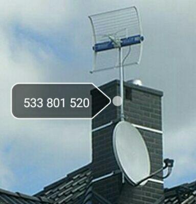 Montaż anten Satelitarnych LTE DVB-T INTERNET SATELITARNY Do 100 km