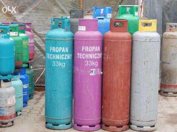 Butle gazowe propan 33kg, do ogrzewania DZIERŻAWA, dowóz