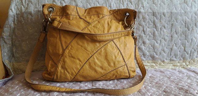 Skórzana torebka FOSSIL - skóra naturalna