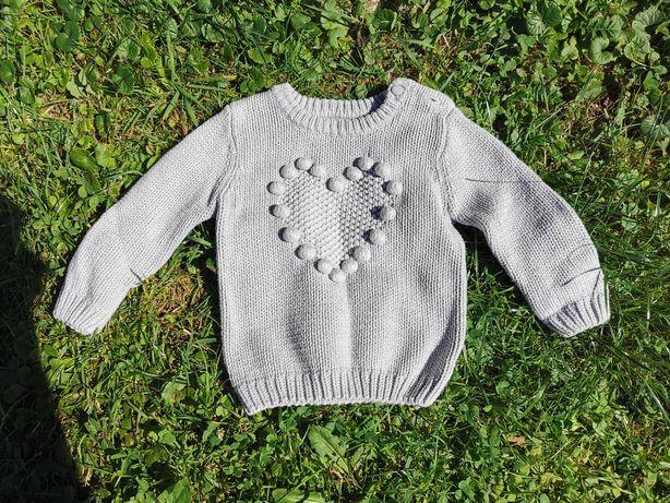 Sweterek dla dziewczynki 12-18 miesięcy