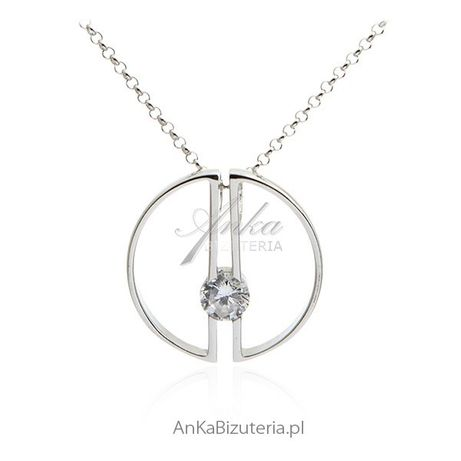 ankabizuteria.pl wiszacy lancuszek srebrny Elegancka biżuteria srebrna