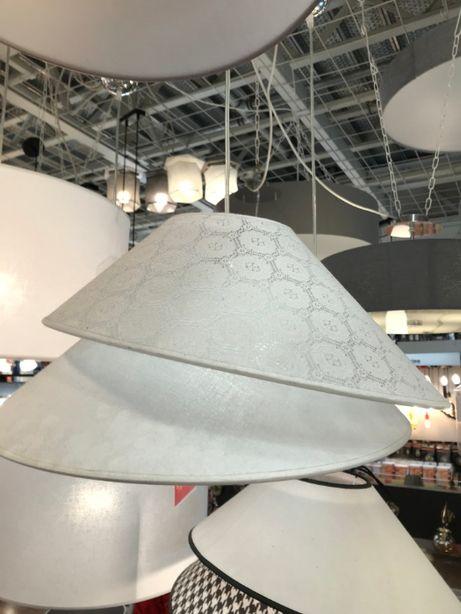 OBI lampa żyrandol abażur biała koronka OKAZJA! Z 129zł na 69zł