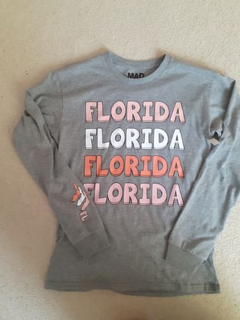 Nowa szara bluza z długim rękawem S z Florydy