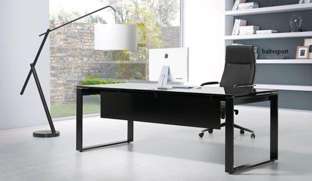 Secretária reta, Mesa de reunião, Mobiliário de escritório cores e med