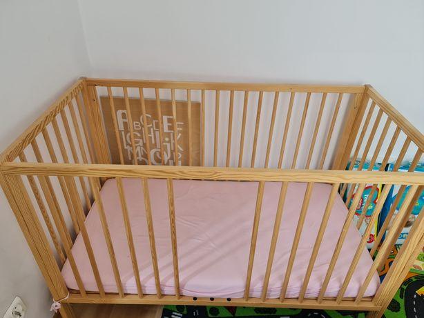 Łóżeczko niemowlęce drewniane SMYK 3-POZIOMOWE