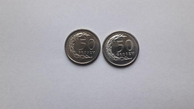 Monety 2x 50gr 1991rok mennicze, wysyłka gratis
