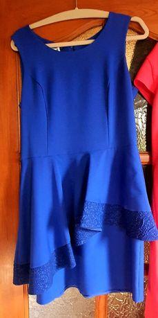 Sukienka, na bal, wesele, sylwestra, kryje brzuszek, chabrowa