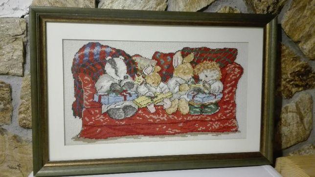 obraz haft krzyżykowy święta wielkanocne - prezent