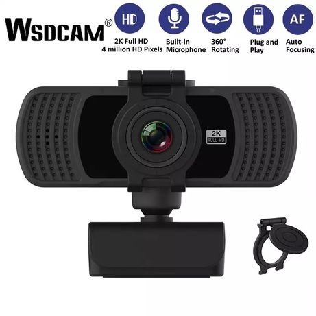 Веб-камера WSDCam PC-C6 1080p 2K с встроенным микрофоном