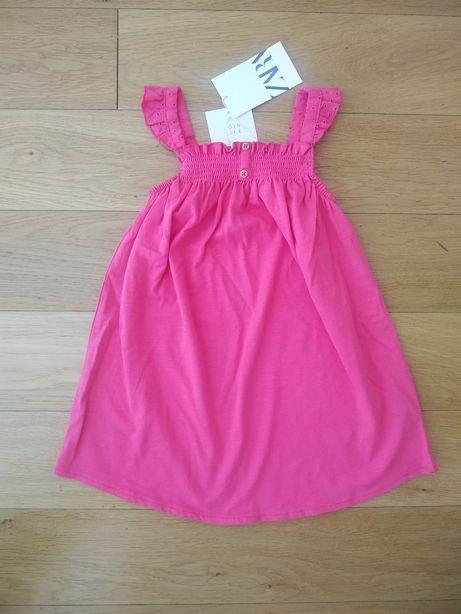 104 NOWA Zara sukienka sukieneczka różowa na koronkowych ramiączkach
