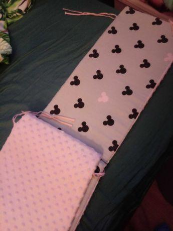 Ochraniacz na łóżeczko minky minnie miki mickey
