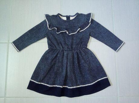 r. 92 sukienka dzianinowa