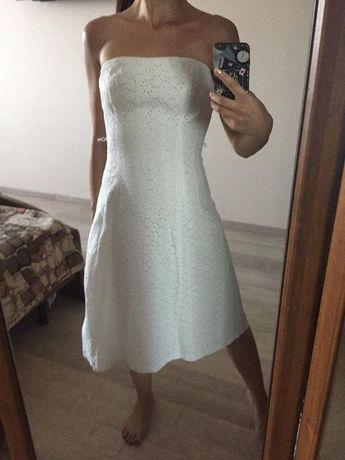 Платье белое кружевное миди коттон 100% Состояние Идеальное!