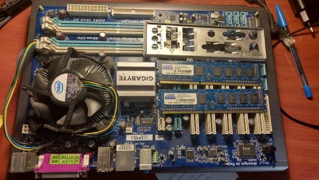 Комплект Материнка GA-P43T-ES3G + Проц Pentium E5700 + ОЗУ(2х2GB)