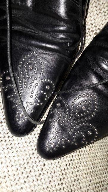 Wyjściowe meskie buty od projektanta