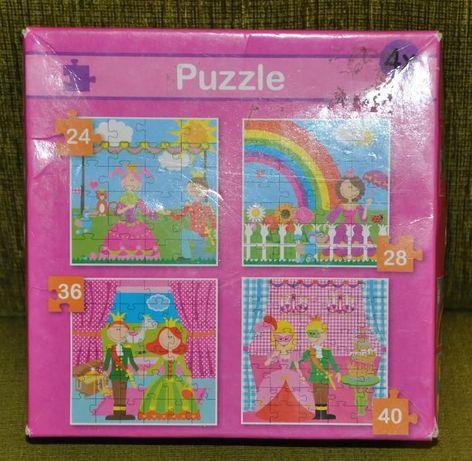 Puzzle 4w1 dla dziewczynki księżniczki