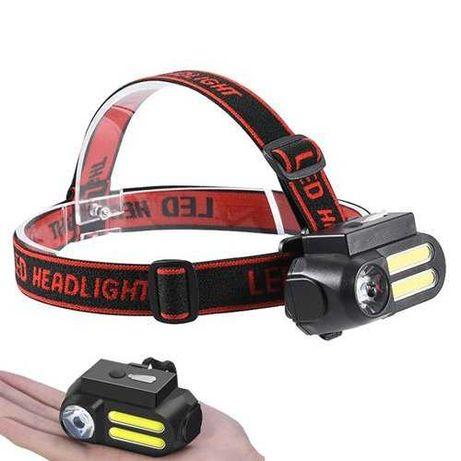 Налобний світлодіодний ліхтар X-Balog BL-611, з діодами LM та COB