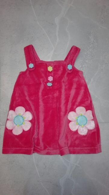 Sukienka welurowa 51015 r. 80
