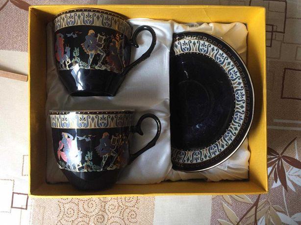 Подарочный чайный набор с блюдцами