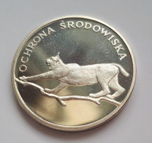 100zł Ochrona Środowiska Ryś 1979 srebro